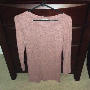 Women's pink sweater dress